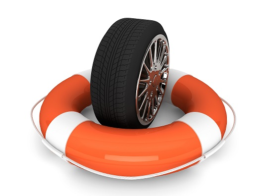 Lifebuoy with wheel tyre